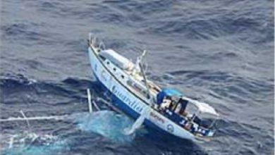 Photo of Navegando en solitario, una ola lo barrió de la cubierta y su barco sin gobierno, desarboló…..