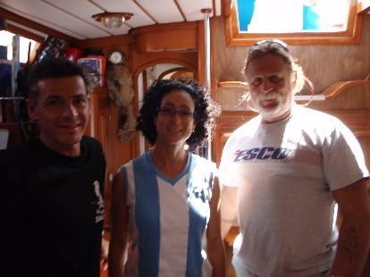 Martín, Roberta y Poli