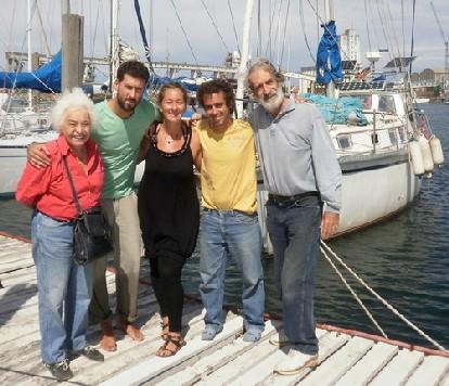 Clara, Jon, Silvina, Andoni y Rodolfo Mena