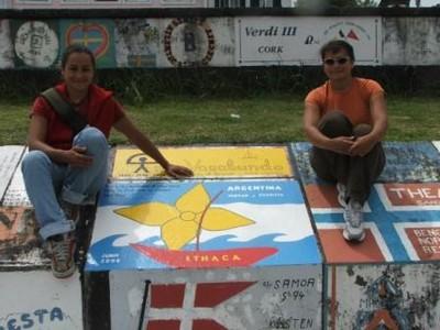 Patricia y Myriam en Horta