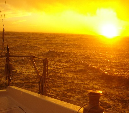chaparrón en alta mar